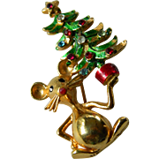 Vintage Mylu Christmas pin