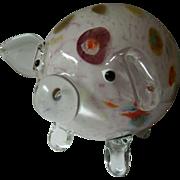 Murano glass pig
