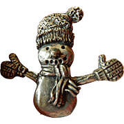 Pewter snowman pin