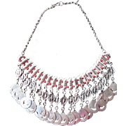 Fabulous sterling silver-coral beads neckloace