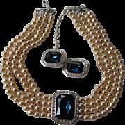 Early KJL-Kenneth J. Lane necklace with earrings-NOW on SALE !!! $ 235