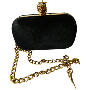 Alexander McQueen designer Pony hair clutch purse/ hand bag-NOW ON SALE !!!- $1129