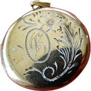 Sterling -12k gold filled locket