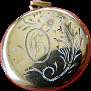 Sterling -12k gold filled locket