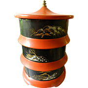 Japanese three tier food tray