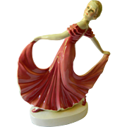 Dressing table lamp-Dancing girl-Vintage