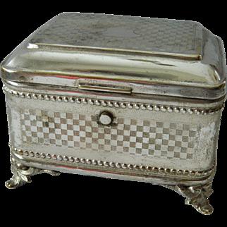 Schiffers & Co. Quad silver plate Keepsake box