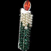 Christmas candle pin