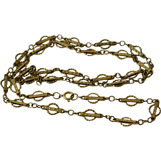 Sterling gold filled intricate vintage  chain