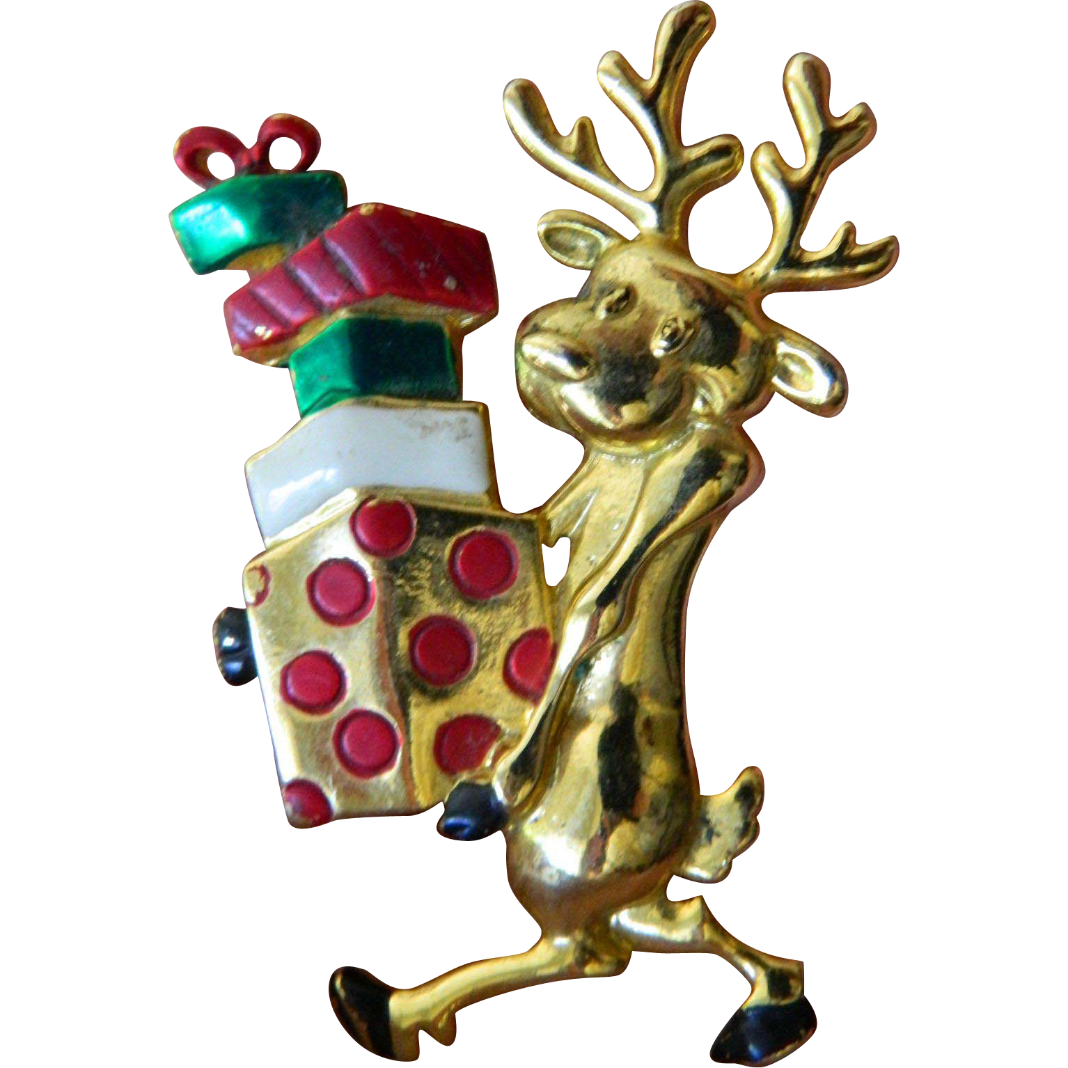 Shopping reindeer pin-christmas