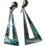 Vintage sterling earrings-Mexico