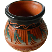 signed Navajo mini pot
