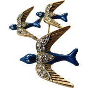 Three Swallows pin