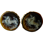 Etched Cameo like Dante-cuff links