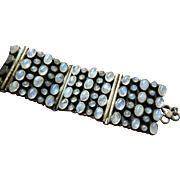 Exquisite sterling-Moonstone bracelet