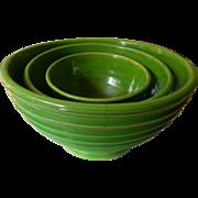 Vintage ribbed bowls