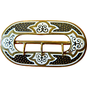 Victorian enameled buckle