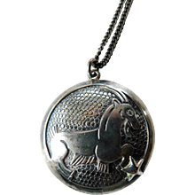 Sterling silver pendant necklace-Zodiac sign