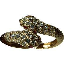 Beautiful early KJL-Kenneth J. Lane  snake bracelet