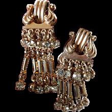 Very elegant mid century dangle earrings