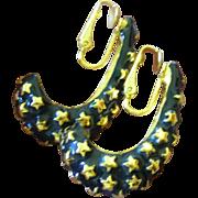 Kenneth Lane enameled earrings