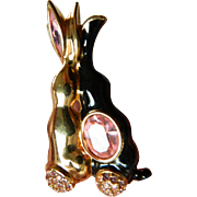 Two rabbits-Swarovski stones