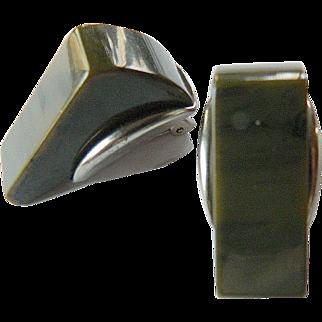 Bakelite clip earrings