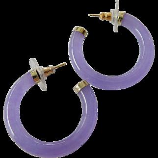 Lavender jade -14k. earrings