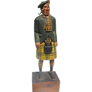 """MacCleod of Lewis""  Large 8"" Scottish Wood figure - Hand carved by Purvis - signed"