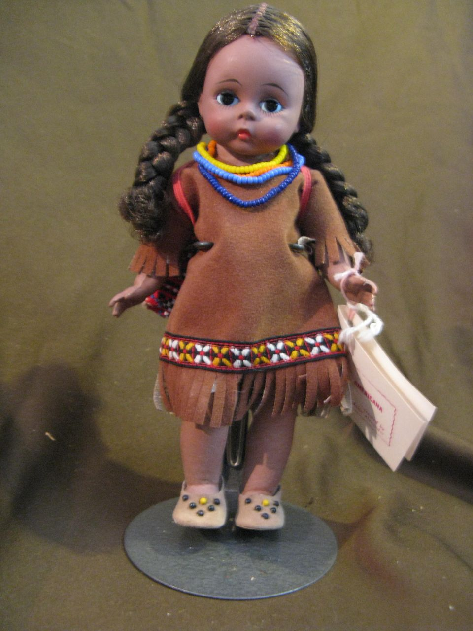 1966 Madame Alexander Indian Girl Doll with Box