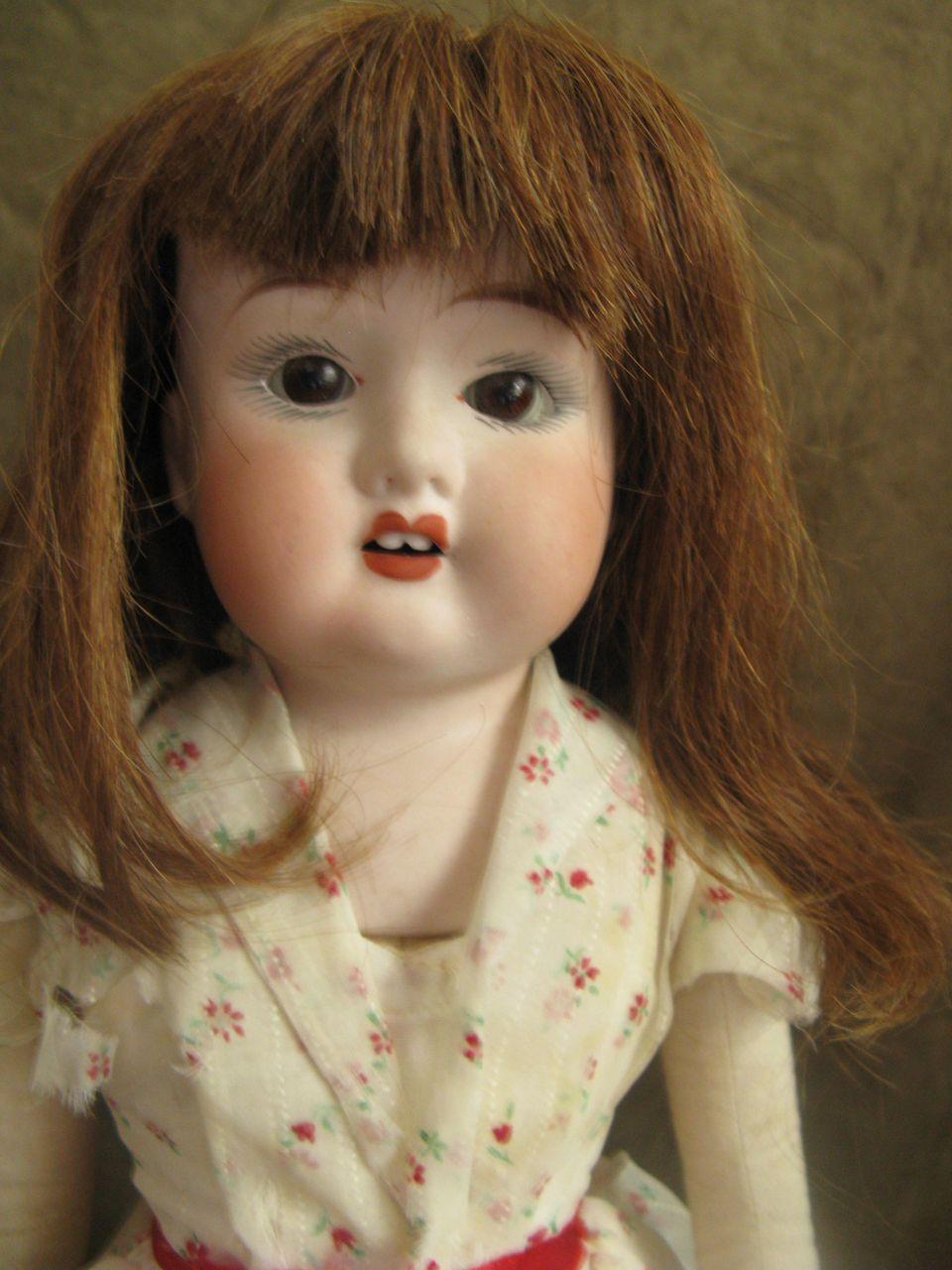 "Antique Bisque Fulper Doll Made in USA - 19"""