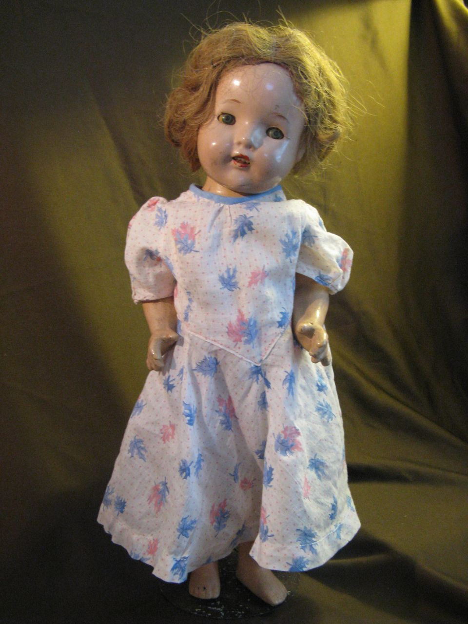 "1930's-40's Composition Doll -16.5"" tall, Shirley Temple Type"