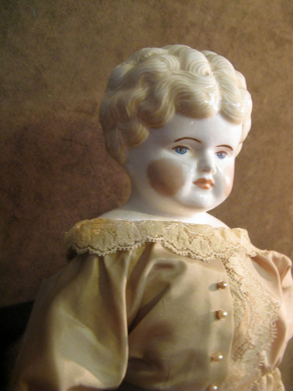 "21"" Blond China Head Doll"
