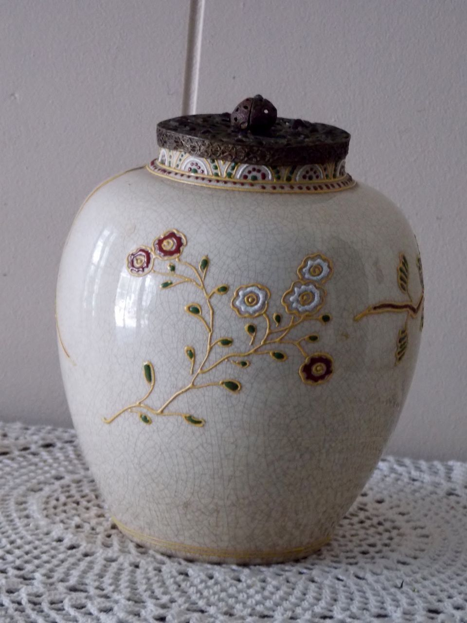 satsuma chat Product description porcelain vase is painted in rich imperial japanese satsuma style with.