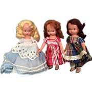 3 Nancy Ann Storybook Dolls 1940's