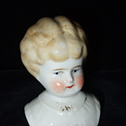 Antique Hertwig Pet Name Marion China Head