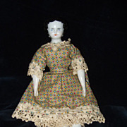 Antique Flat Top China Doll