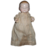 "Antique 8""  All Bisque German Baby Doll"