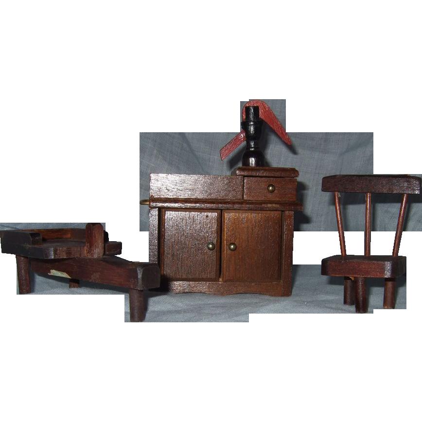 Vintage Wood Dollhouse 73