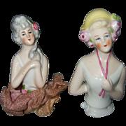 Two Antique German Half Dolls