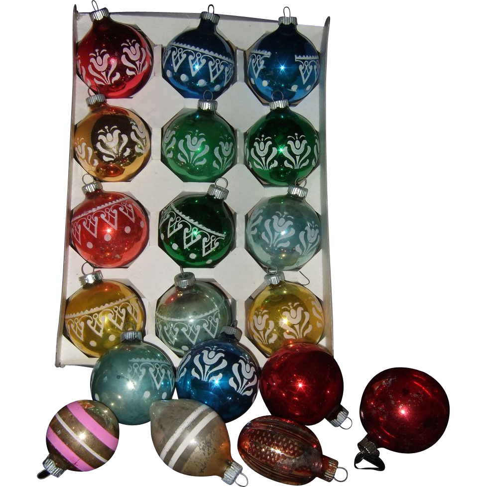 19 shiny brite glass christmas ornaments red tag sale for Christmas ornaments sale