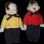 Pair of Vintage Chinese Bisque Pookie Dolls - Red Tag Sale Item