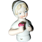 Bisque German Half Doll