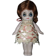 German All Bisque Large Glass Eyed Doll