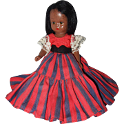 Nancy Ann Storybook Hard Plastic Black Doll - Red Tag Sale Item