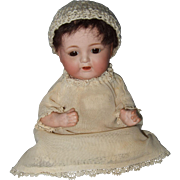 Early Cabinet Sized Japanese Nippon Bisque Head Baby Doll