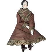 Miniature China Head Doll- Cloth Body- China Limbs