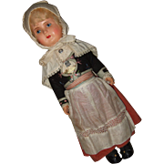 Celluloid Hand Painted Face Sweden Doll