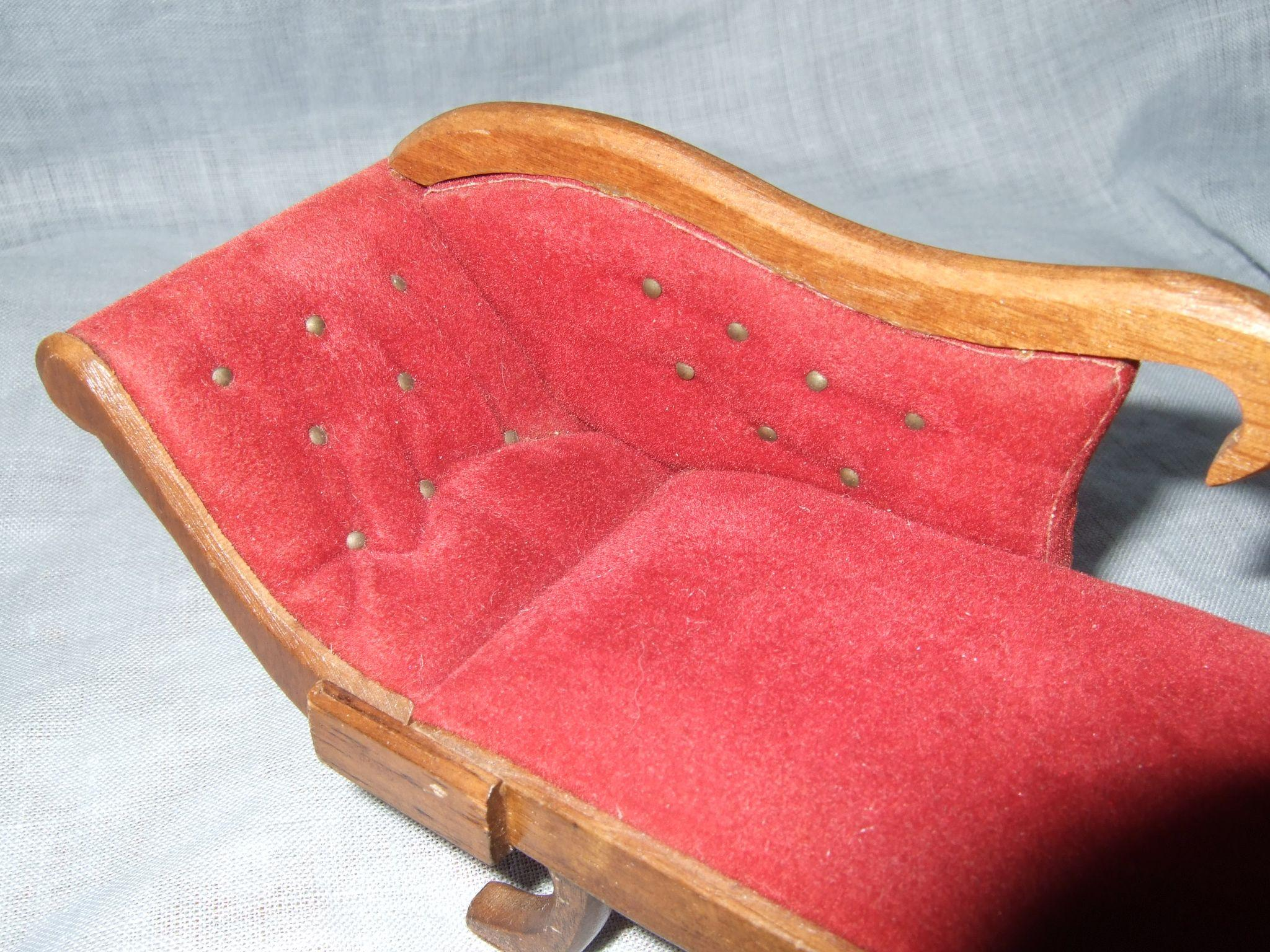 Vintage Miniature Chaise Lounge from shirleydoll on Ruby Lane