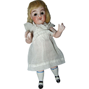 Antique German All Bisque Glass Eye Doll